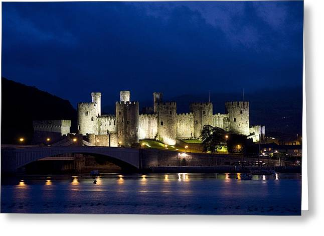Recently Sold -  - Knights Castle Greeting Cards - Conwy Castle North Wales U.K. Greeting Card by Nigel Brooks