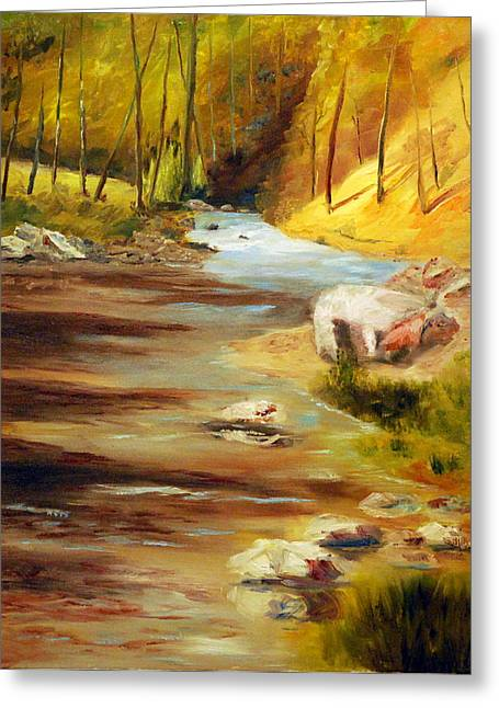 Cool Mountain Stream Greeting Card by Phil Burton