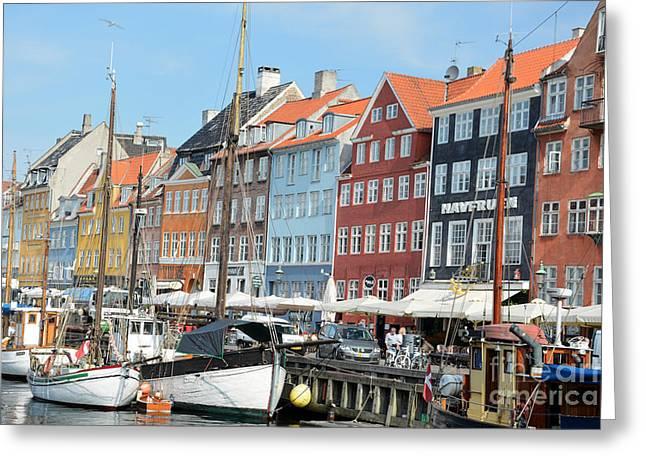 Copenhagen Harbor II Greeting Card by Andrea Simon