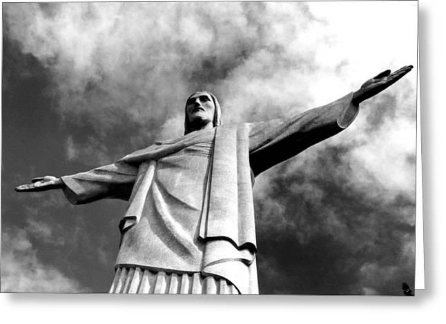 Corcovado - Rio De Janeiro - Brasil Greeting Card by Eduardo Costa
