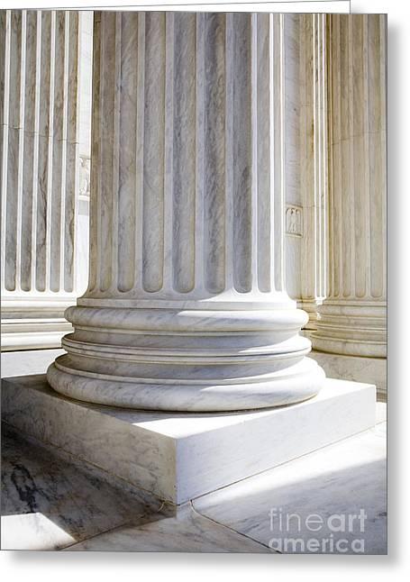 Corinthian Columns, United States Supreme Court, Washington Dc Greeting Card by Paul Edmondson
