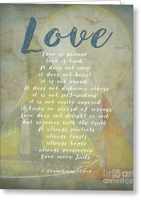 1 Corinthians 13 4-8 Love Is Patient Love Is Kind Wedding Verses. Great Gift For Men Or Home Decor. Greeting Card