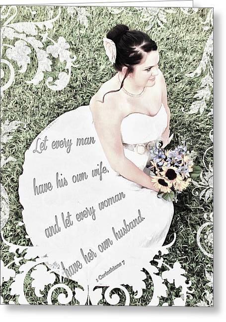 1 Corinthians 7 2 Greeting Card by Michelle Greene Wheeler