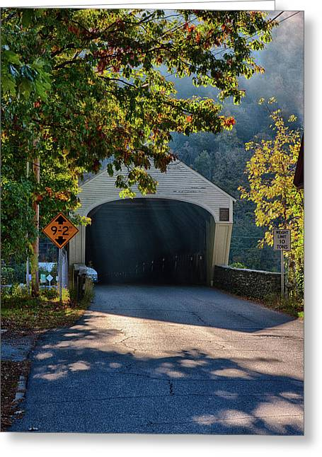 Greeting Card featuring the photograph Cornish-windsor Covered Bridge by Jeff Folger
