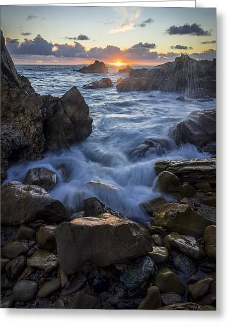 Greeting Card featuring the photograph Corona Del Mar by Sean Foster