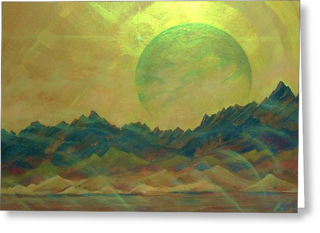 Cosmic Light Series Greeting Card by Len Sodenkamp