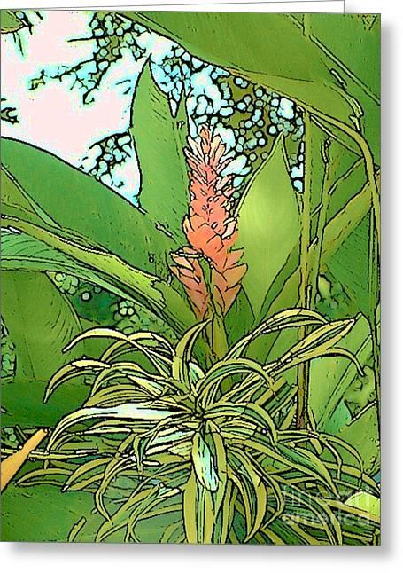 Costa Rica Jungle Bloom Greeting Card by Lisa Dunn