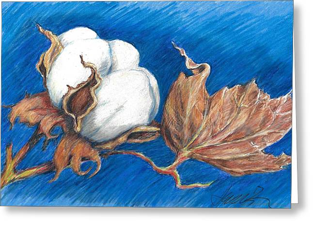 Cotton Picking Blues Greeting Card