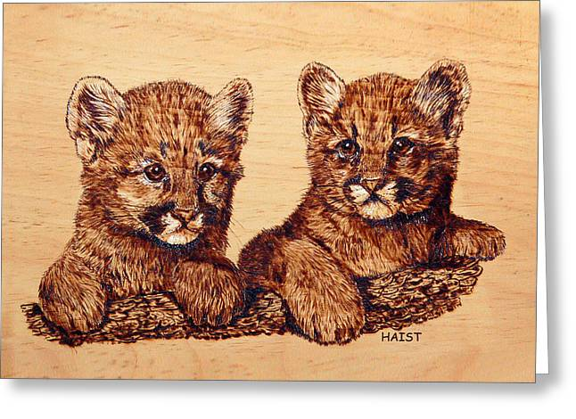 Cougar Cubs Greeting Card