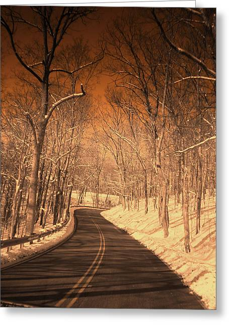 Country Road Greeting Card by Martie DAndrea