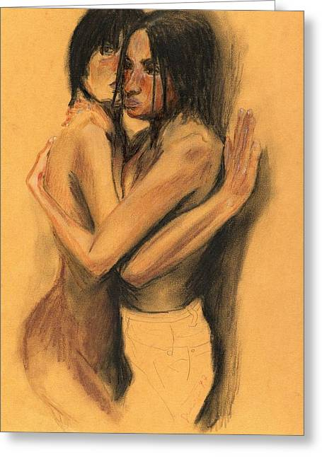 Couple Greeting Card by Sergio Guerrini