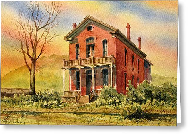 Courthouse Bannack Ghost Town Montana Greeting Card by Kevin Heaney