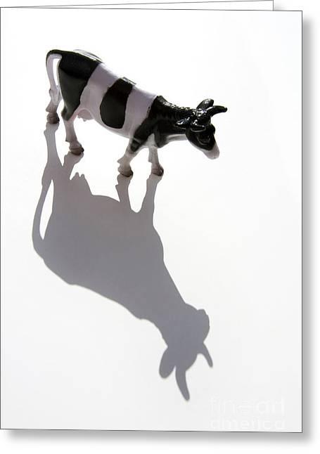 Cow Figurine Greeting Card