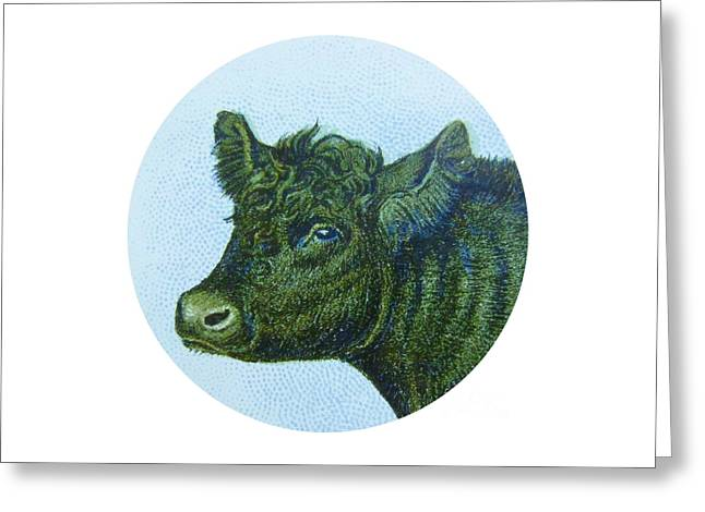 Cow I Greeting Card by Desiree Warren