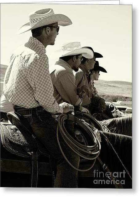 Cowboy Art 2 Greeting Card by Bob Christopher