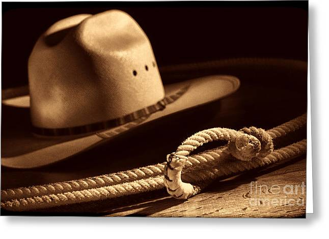 Cowboy Hat And Lasso Greeting Card