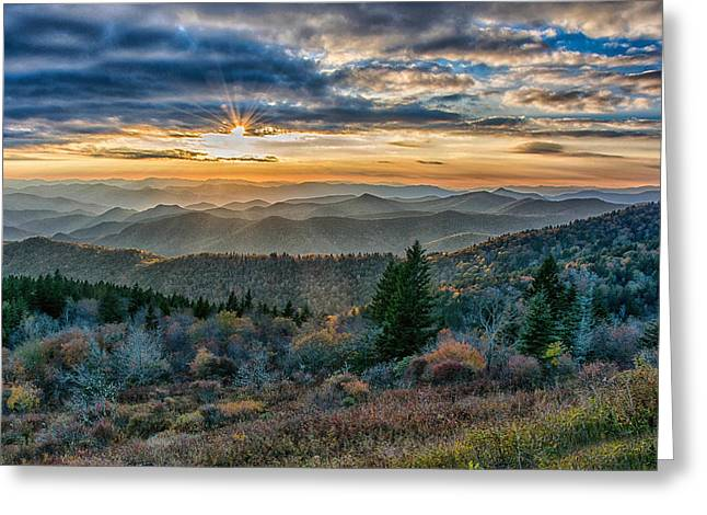Cowee Sunset Greeting Card by Donnie Smith