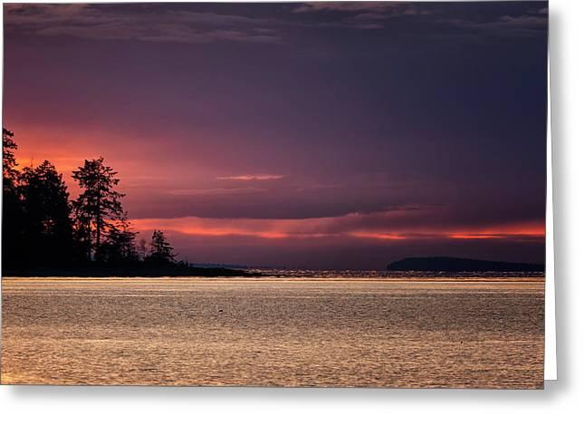 Craig Bay Sunset Greeting Card