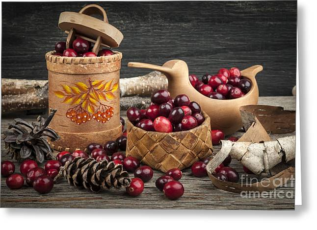 Cranberries Still Life Greeting Card
