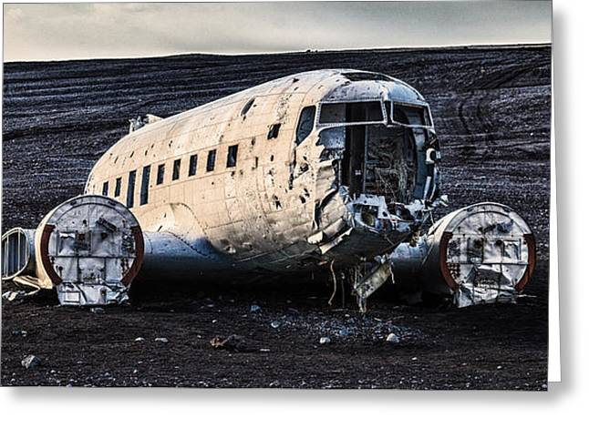 Crashed Dc-3 Greeting Card