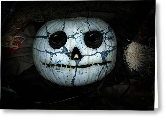Creepy Halloween Pumpkin Greeting Card