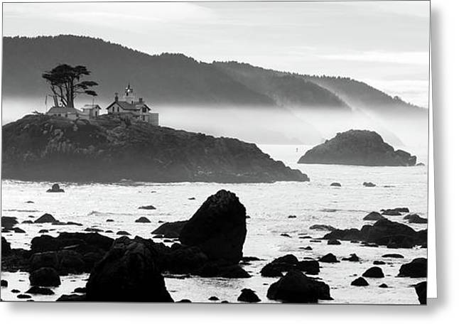 Crescent City California Pacific Coast Battery Point Lighthouse Greeting Card