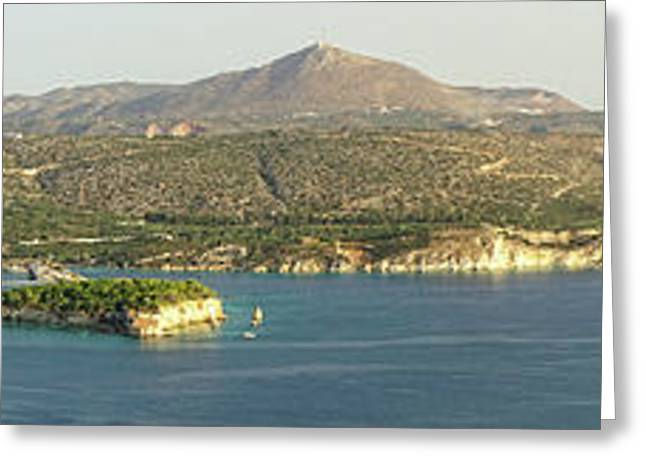 Crete Panoramic Greeting Card by HD Connelly