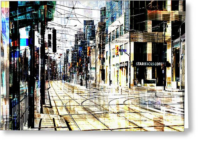 Crossing Spadina Greeting Card by Nicky Jameson