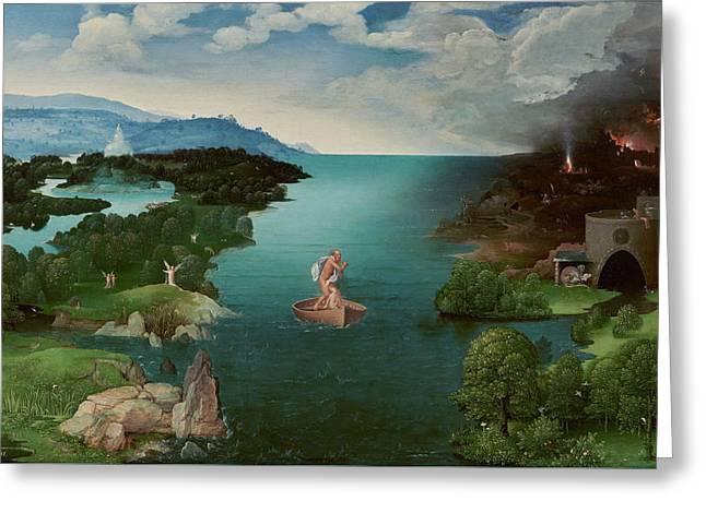 Crossing The River Styx Greeting Card by Joachim Patinir