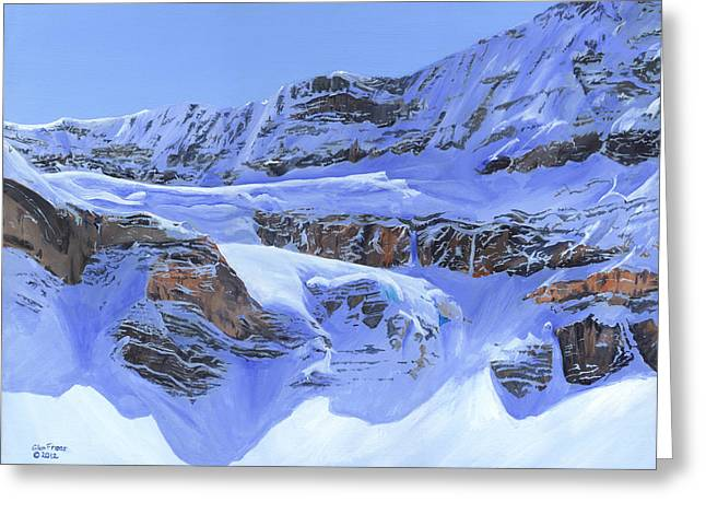 Crowfoot Glacier Greeting Card by Glen Frear