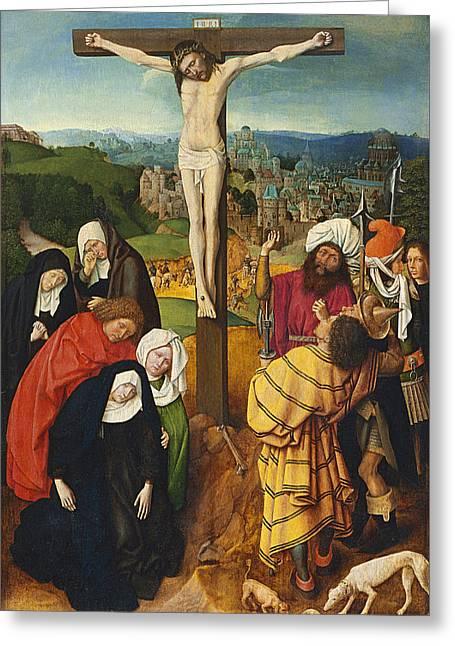 Crucifixion Greeting Card by Gerard David