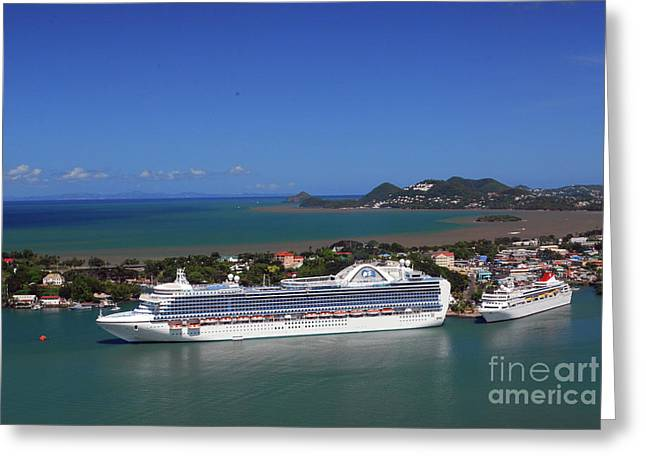 Greeting Card featuring the photograph Cruise Port by Gary Wonning