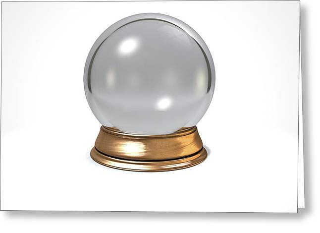 Crystal Ball Greeting Card by Allan Swart