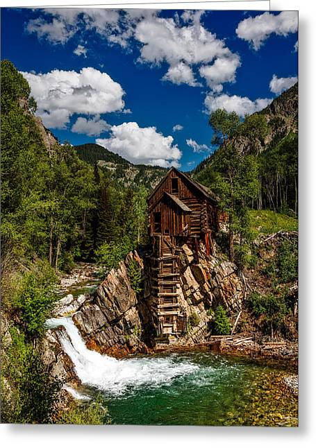 Crystal Mill Greeting Card by Mountain Dreams