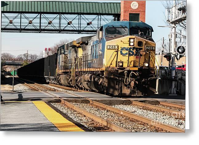 Csx Engine Gaithersburg Maryland Greeting Card