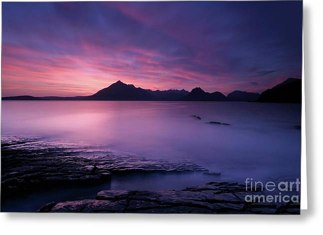 Cuillins At Sunset Greeting Card