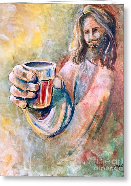 Cup Of Salvation Greeting Card