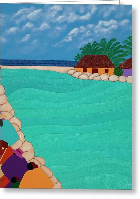 Curacao Lagoon Greeting Card