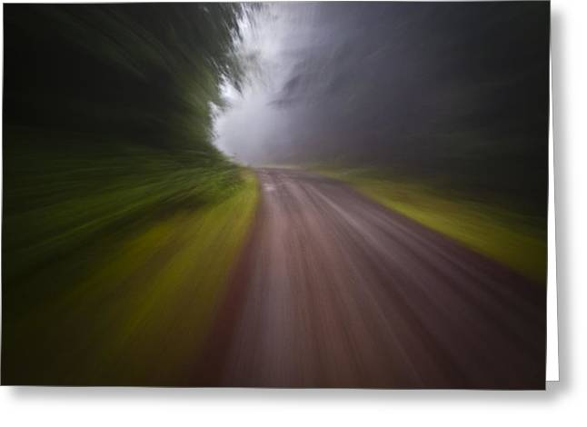Curve In The Road Blur Greeting Card by Ed Book