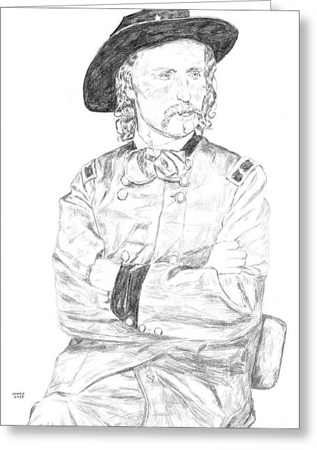 Custer Greeting Card by Dennis Larson