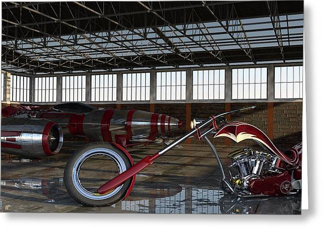 Greeting Card featuring the photograph Custom Chopper  by Louis Ferreira