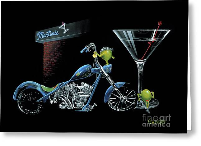 Custom Martini Greeting Card