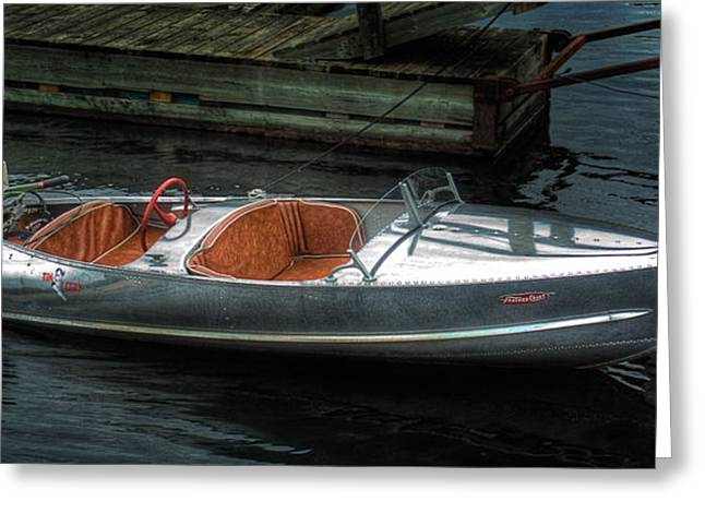 Cute Boat - 1948 Feather Craft Greeting Card
