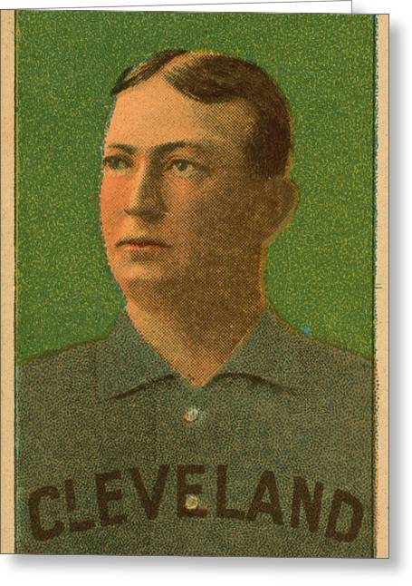 Cy Young, Cleveland Greeting Card by Vintage Pix