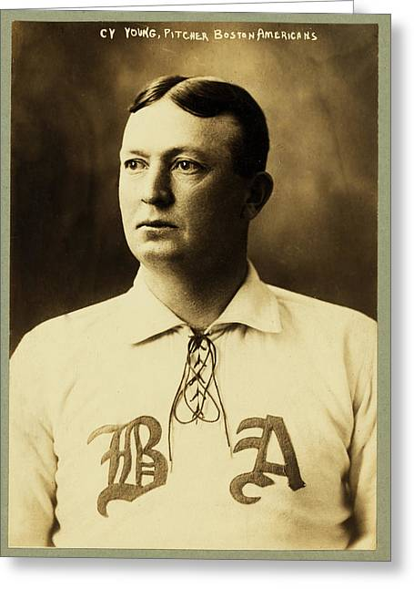 Cy Young Greeting Card by Mountain Dreams