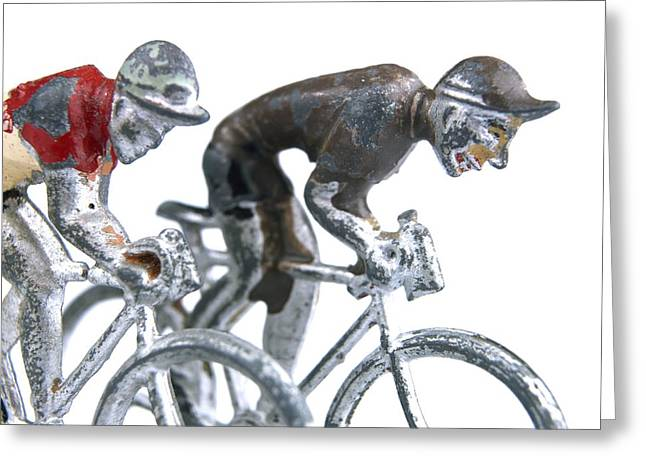 Pedals Greeting Cards - Cyclists Greeting Card by Bernard Jaubert