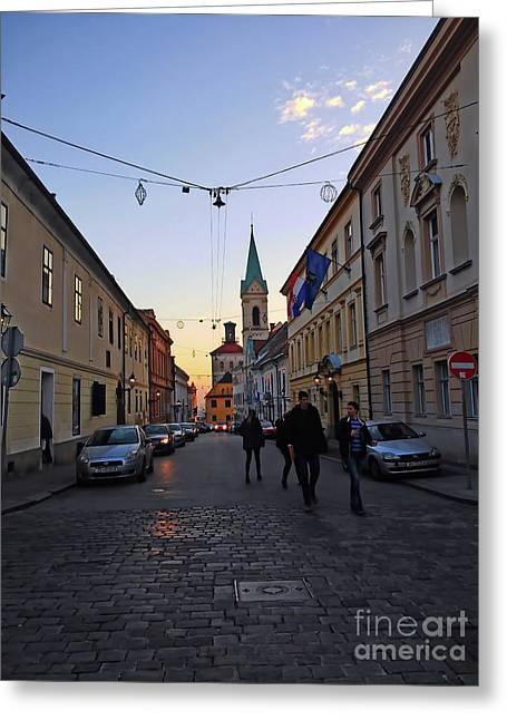 Cyril And Methodius Street Zagreb Greeting Card by Jasna Dragun