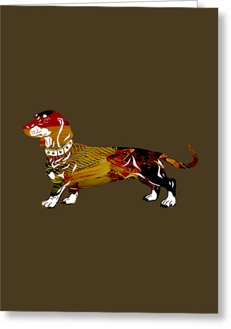 Dachshund Collection Greeting Card