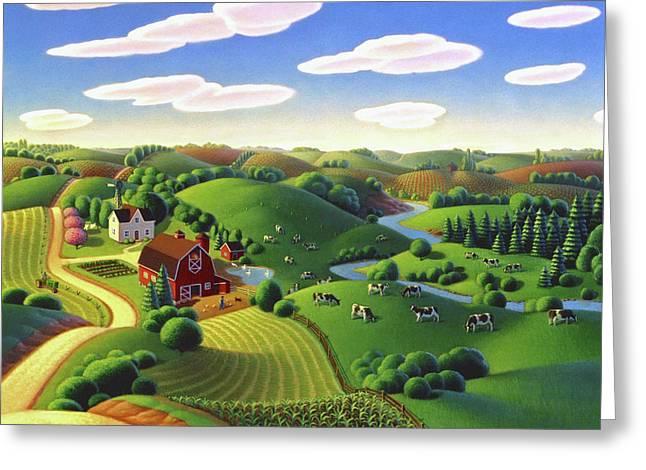 Dairy Farm  Greeting Card by Robin Moline