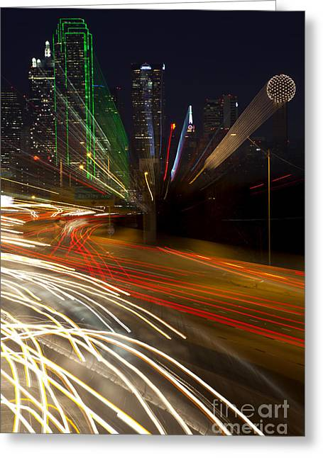 Dallas Commute - Abstract Greeting Card
